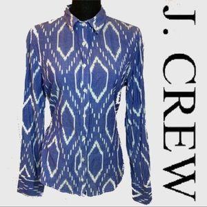 J Crew Western Print 100% Cotton Long Sleeve